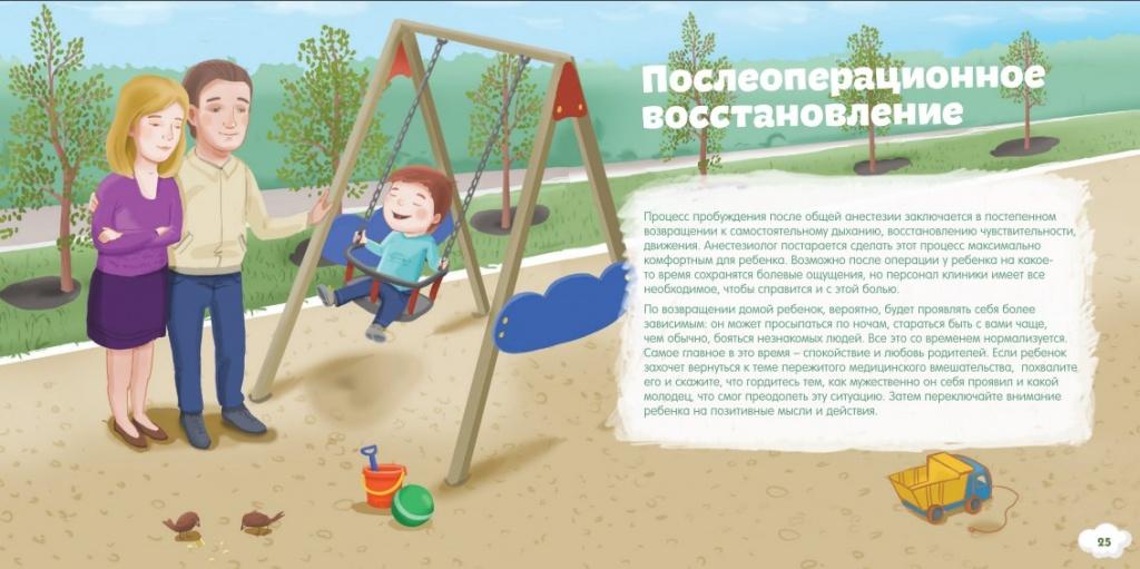 Описание послеоперационного восстановления ребенка